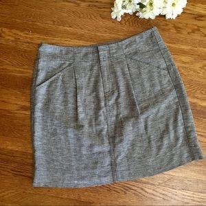 Ann Taylor linen blend skirt with pockets 4
